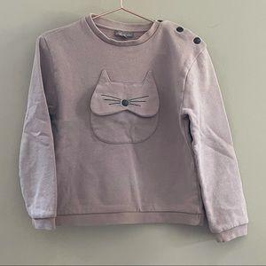 Emile Et Ida Pink Cat Long Sleeve Girls Sz 6A